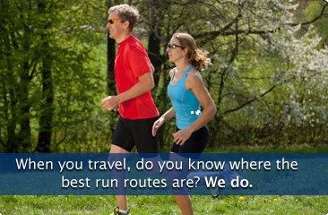 When you travel, do you know where the best run routes are? We do.