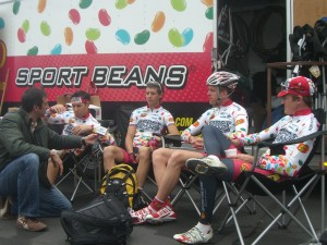 A moment of R & R for Nick Reistad, Bernard van Ulden, Will Routley & Kiel Reijnen before Palomar\'s summit