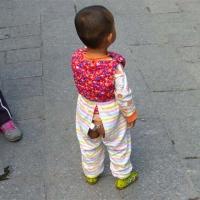Diaper free trousers Open step Kaidangku