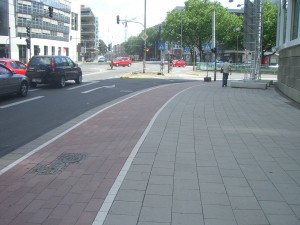 Red Bike Lane in Cologne